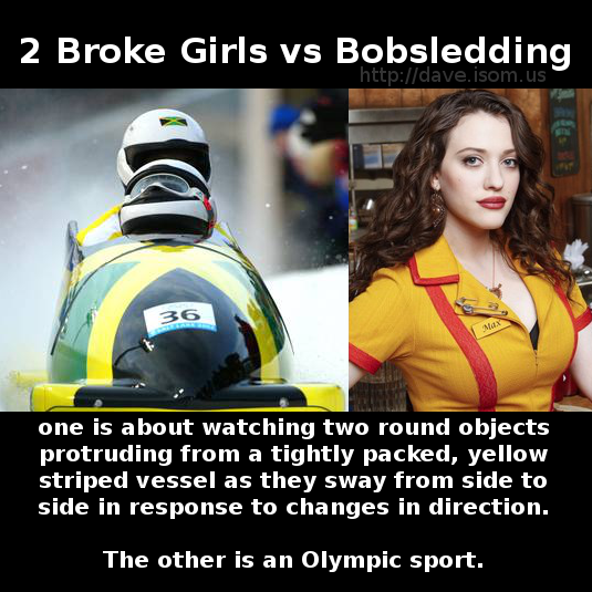 2BrokeGirlsvsBobsledding